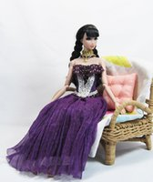 Wholesale Lin s handmade girl Purple doll dress clothes accessories for Barbie Momoko Nippon Blythe Jenny quot Obtisu and similar free necklace
