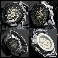 auto winner - Winner Brand Luxury Sport Watch Mens Automatic Skeleton Mechanical Wristwatches Fashion Casual Stainless Steel Relogio Masculino