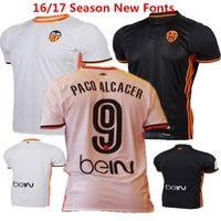 Wholesale 2016 camisetas de futbol Valencia Soccer Jersey Spain Football Shirt Saco Alcacer Gomes Gaya Parejo Home White Maillot de foot WithBein