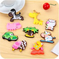 Wholesale colorful sticker for decoration fridge and furniture Cute animal refrigerator Cartoon three dimensional soft magnetic