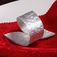 Wholesale X Silver Gold Beauty Special Irregular Plastic Napkin Rings For Weddings Acrylic Hotel