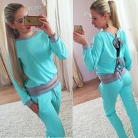 ankle pants price - Lowest Price Women Sexy Tracksuits Set Jogger Tracksuit Sets Classic sportswear Long Sleeved T shirt Sports Suit Fashion Tops Pants