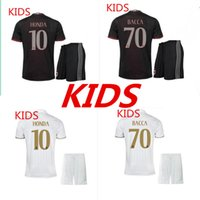 ac a kid - 2016 A quality AC Milan children clothing sets kids shirts KAKA full set of berry black BONAVENTURA AC Milan home soccer ball cl