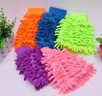 Wholesale Hot Great Mitt Microfiber Car Window Washing Home Cleaning Cloth Duster Towel Mitten