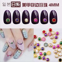 Wholesale 1000PCS D m Acrylic Decor Nail Art Charms Bling Rhinestone Pearl Tips DIY