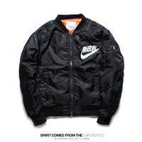 best sport coats - Fall best hip hop men jacket embroidery shark windbreaker baseball camo camouflage military sport outwear badge down coat