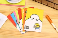 Wholesale DIY Cartoon Baymax Greeting Gift PostCards for Valentine s Day birthday wedding Anniversary Invitations Gift Greeting Cards Set of Designs