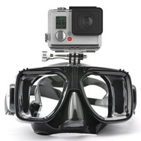 Wholesale 1 piece gopro diving mask soft liquid silicon scuba diving mask with clear tempered glass top snorkel mask for adult diving