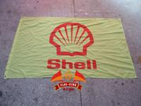 Ракушка масло Цены-Свободная перевозка груза, 100% polyester 90 * 150cm, логос тавра масла фирменного масла масла серии Rimula, король флага, баннер масла, цифровая печать
