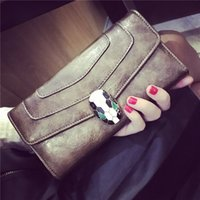 best checkbook wallet - Best New Design Fashion Multifunctional Purse Genuine Leather Wallet Women Long Style Cowhide Purse And Retail Bag