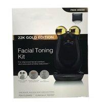 Wholesale 2016 Nuface Trinity PRO K GOLD EDITION facial trainer kit Facial Toning Kit facial Skin Care tools Home facial Skin Care Devices nuface