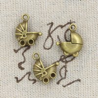antique pram - 80pcs Charms pram baby car mm Antique Making pendant fit Vintage Tibetan Bronze DIY bracelet necklace