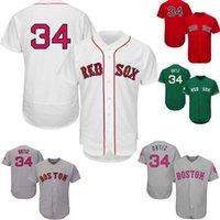 Wholesale Men s Boston Red Sox David Ortiz Jersey Gray White Red David Ortiz Flexbase Baseball Jersey Green Gray Mother s Day