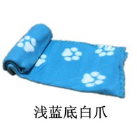 Wholesale Cute Pet Dog Cat Blanket Paw Prints Soft Warm Fleece Mat Bed Cover Four Colors Choose Freeshipping ZD079B