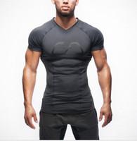Wholesale New Arrival Gym Shark Stringer T shirt Men Gymshark Bodybuilding and Fitness Men s Singlets GYM Tank Shirts Sports Clothes