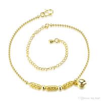 Piernas de las mujeres España-18K oro plateado linda pulsera de plata pequeña pulsera pulseras para las mujeres Pulsera de las piernas de las mujeres pie cadena de la joyería de moda playa de la pulsera de tobillo señora regalo