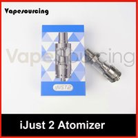 Wholesale Authentic Eleaf iJust2 Atomizer New eleaf ijust2 tank iSmoka Eleaf iJust Atomizer ML Eleaf ijust2 sub ohm atomizer by DHL free
