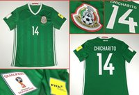 Wholesale 2017 mexico new green shirts the J M CORONA Mexico green Jersey de Futbol the J HERNANDEZ football shirts size S XL