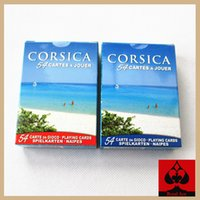Wholesale high quality The island of Corsica tourist collection poker novelty landscape scene playing card