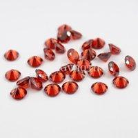 Wholesale 200pcs mm mm AAA cubic zirconia garnet round loose gem stones