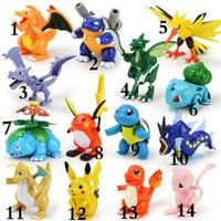 action figures - 15 Design Poke pikachu Action Figure building blocks blocks intelligence educational toys Birthday gifts with gift box E1545