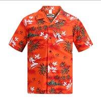 aloha shirt xl - Brand New Hawaiian Shirt Men Summer Short Sleeved Palm Tree Printed Hawaii Shirts US Size Beach Aloha Shirts Hotel Uniform A933
