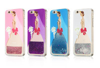 beautiful girls paintings - Fation Lovely Beautiful Girl Unicorn Painted Dynamic Liquid Glitter Quicksand Case For Iphone5 s Se s plus Phone Case