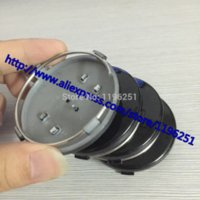 audi grey - 100pcs High Quality mm grey Black Wheel Hub Caps Cap Car Wheel Badge Emblem for Audi B0601170 by DHL