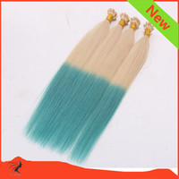 Wholesale 8A Brazilian Human Hair Flat Tip Hair Extension quot quot Ombre Color Pre bonded Human Hair Extension g No Shedding