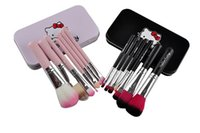 best iron sets - best quality set Hello kitty Make Up Cosmetic Brush Kit Makeup Brushes Pink iron Case Toiletry beauty appliances makeup brush