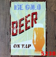 Wholesale Beer Coffee Metal Poster Retro Decor Wall Painting Home Bar Office Hotel Wall Decor Retro Metal Art Poster cm DHL FREESHIP