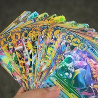 Wholesale 18pcs English Anime Poke Go Cards EX Shiny Card Gam Card Gift For Children Boys Playing Cards