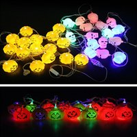 ac clubs - Halloween Party Decoration Horrible Pumpkin Skull Head Color Changeable LED String Light m Bulbs Club Resturant Hotel Party Light