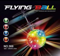 Wholesale New Colorful Flying Ball RC Helicopter with Music Altitude Induced Sensor Colorful Flash Disco Remote Control Toy Gift