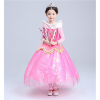 baby stage - Baby Kids Clothing Cosplay Costumes Halloween Day Christmas Classic Fairy Tales Princess Aurora Dresses Stage Performance Dress