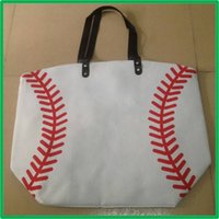 Wholesale Brand New fashion Baseball Totes Canvas Tote sports Softball bag