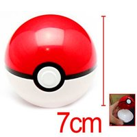 Wholesale Pikachu Pokeball Poke Ball red and white ABS Mini Model Classic Anime Super Master Ball Action Figures Toys cm