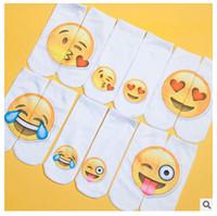 Wholesale Top Quality Socks Female D Fashion Printing Women Sock Unisex Emoji Pattern Meias Cute Feminina Funny Low Ankle Hosiery DHL