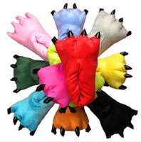 Wholesale Autumn and winter super soft coral fleece Plush dinosaur claws shoes stitch explosion cotton slippers