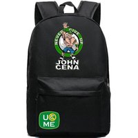 wrestling belt - Cheer John Cena Cenation backpack Get the belt school bag Professional wrestling sport daypack Good schoolbag Black day pack