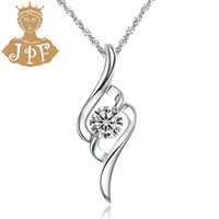artificial plants singapore - JPF gentle angel wings artificial drill silver jewelry silver necklace female