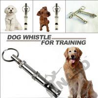 Wholesale 2016 NEW Pet Dog Training Adjustable Ultrasonic Sound Whistle Dog Training Tool Cute Training L27 Z