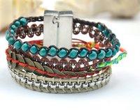 antique cloisonne beads - Antique Coin Bead Bracelets Tribal bracelet Aztec Turquoise beads bracelet Layering beads bracelets