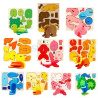 assembly modeling - D Wooden Animals Modeling Assembly Puzzles Kids Childrens Jigsaw Toy