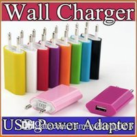 Wholesale 100PCS V mah Colorful EU US Plug USB Wall Charger AC Power Adapter Home Charger for iphone S Plus Samsung S7 S6 HTC C SC