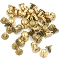 Wholesale 5 universal mm Stud Screw Round Head Solid Brass Nail Leather Screw Rivet Chicago Button for Leather Decor Helper DIY