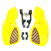 atv hand guard - 7 quot mm handlebars hand guards Motorcycle Handguards Universal Dirtbike ATV Handguard For Suzuki yellow