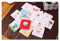 Wholesale gift cards christmas thankgiving birthday cards D diy paper cards gift tag set