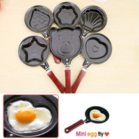 Wholesale Cucina Cartoon Mini Egg Fry Pan Heart Cozinha Divertida Creative Non Stick Frying Animal Mold Shape Kitchen Cooking Tool Grill