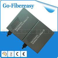Wholesale 2pcs Bi Di Single mode Single Fiber Mbps Fiber Optical Media Converter km SC Connector